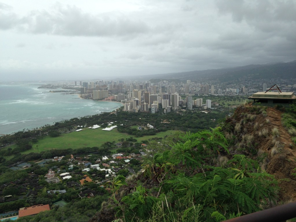 Honolulu from Diamond Head peak photo by Scott Holleran
