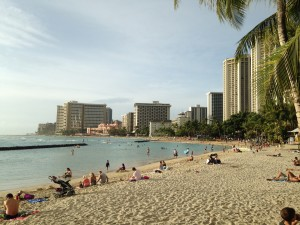 Waikiki Beach photo by Scott Holleran
