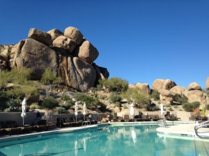 Lodge poolside at the Boulders photo by Scott Holleran
